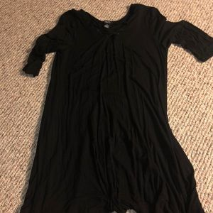All Black T-shirt Dress